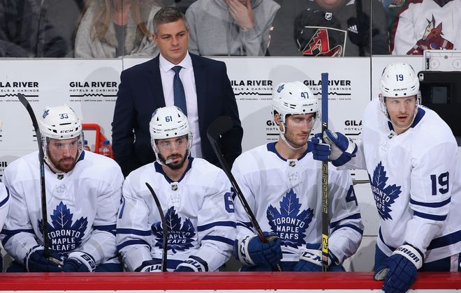 Sheldon Keefe is 3-0 since taking over behind the Leafs bench (Getty Images).