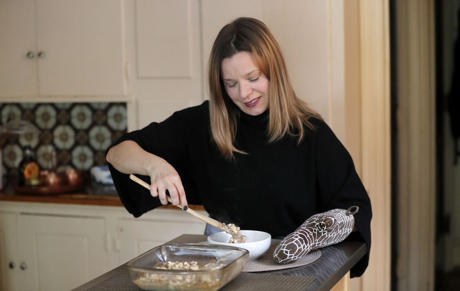 Jessica Mascle says dishes like Baked Banana and Date Oatmeal fit in naturally with the winter season. (Mark Mulville/Buffalo News)
