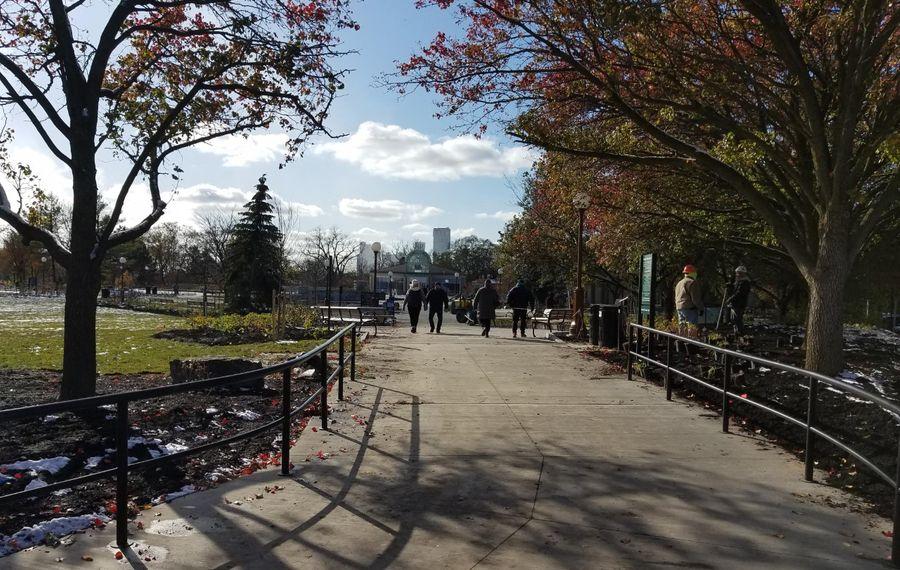 The new entrance walkway to Niagara Falls State Park on Nov. 8, 2019. (Thomas J. Prohaska/The Buffalo News)