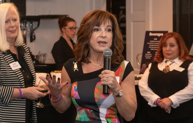 """""""A number of women have given themselves permission to be happy, or permission for me-time,"""" SheCAN! founder Peggy Sullivan says of those who have joined the organization she started to support women in their personal and professional lives. (Photo courtesy of SheCAN!)"""