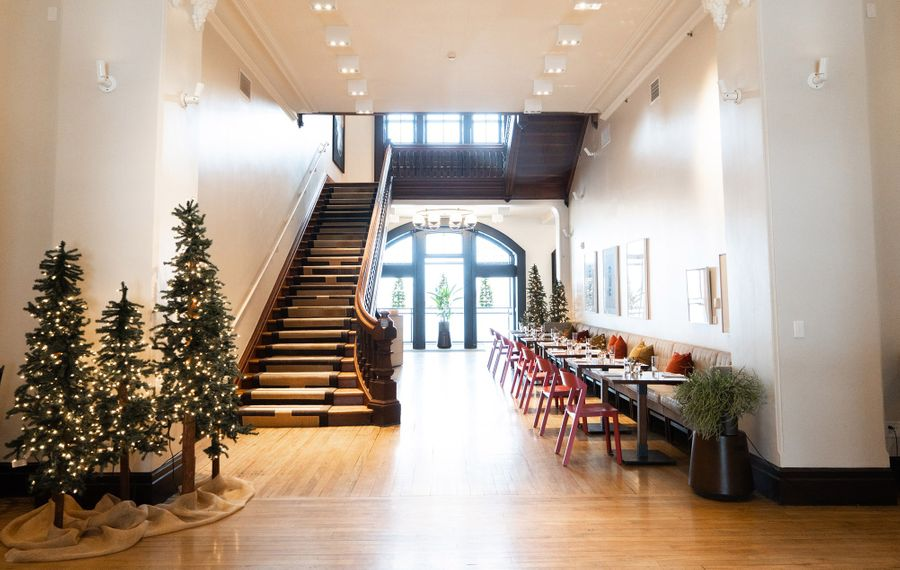 A staycation at Hotel Henry makes it even easier to shop their holiday market every Sunday in December (through the 22nd). Vendors line the ample halloways, plus you'll find alpacas, horse-drawn carriages ready for rides, seasonal sips and more.(Courtesy Hotel Henry)