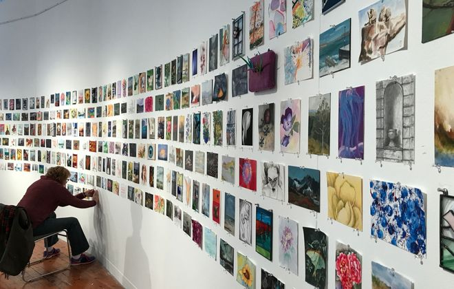 """Dozens of artists donate works for the Carnegie Art Center's """"Art Off the Wall"""" fundraiser."""