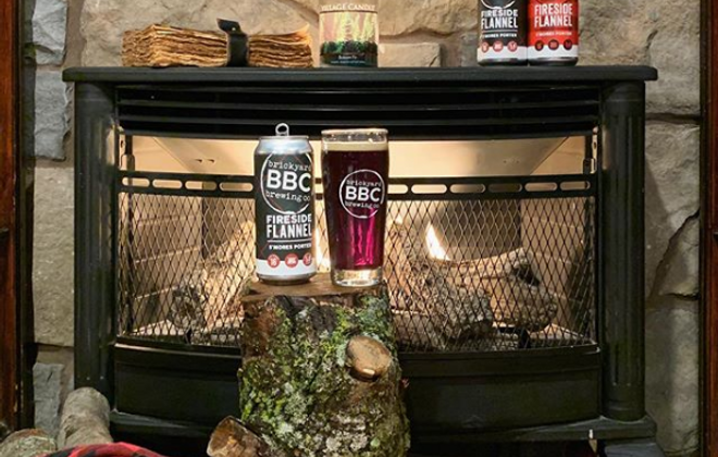 Fireside Flannel S'mores Porter is a delicious aperitif to end a day of football and food. (Photo courtesy of Brickyard Brewing)