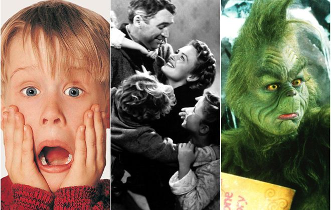 "Local movie theaters are offering a full slate of holiday films including ""Home Alone,"" left, ""It's a Wonderful Life"" and Jim Carrey's ""How the Grinch Stole Christmas."""