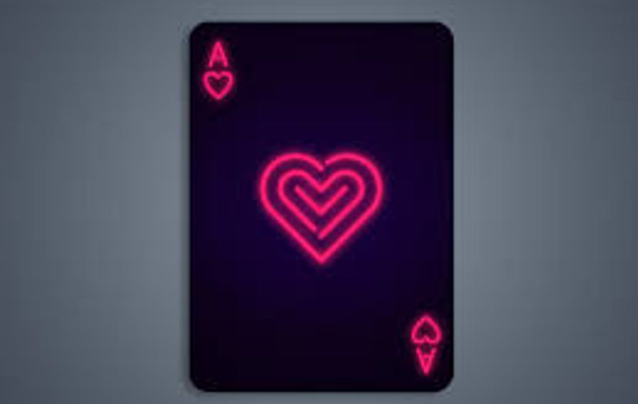 Neon Ace of Hearts by Curtiss Patrick.