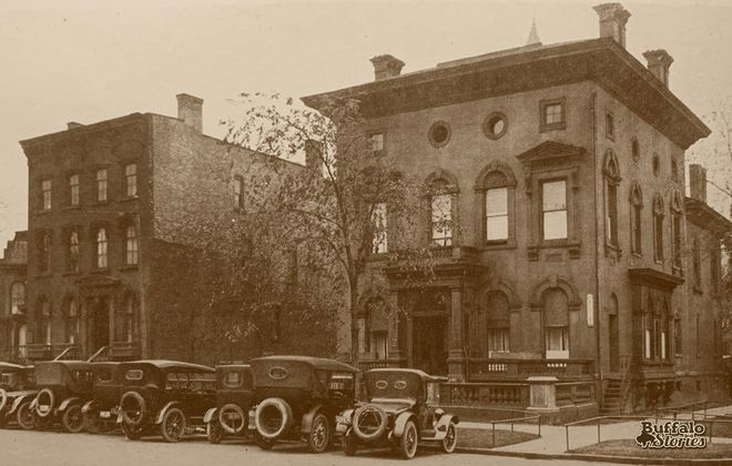 Two Niagara Square homes torn down in 1922 to make way for the Buffalo Athletic Club.,
