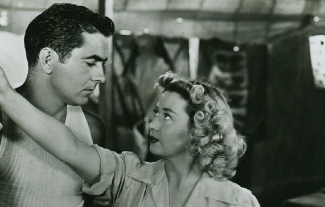 """Tyrone Power and Joan Blondell star in the original film version of """"Nightmare Alley."""" Oscar-winning director Guillermo del Toro is remaking that 1947 film with some scenes to be shot in Buffalo."""