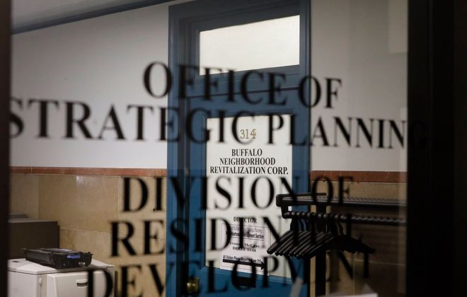 The Office of Strategic Planning appears to be at least part of the focus of federal agents who arrived at City Hall on Wednesday morning with a search warrant. (Derek Gee/Buffalo News)