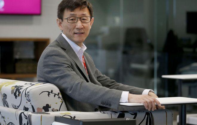 Yexi Liu, chief information officer at Rich Products, at the company's Niagara Street headquarters. (Robert Kirkham/Buffalo News)