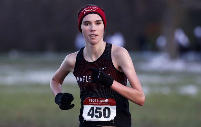 Maple Grove runner Ava Christ won the girls Class D sectional title. (Mark Mulville/Buffalo News)