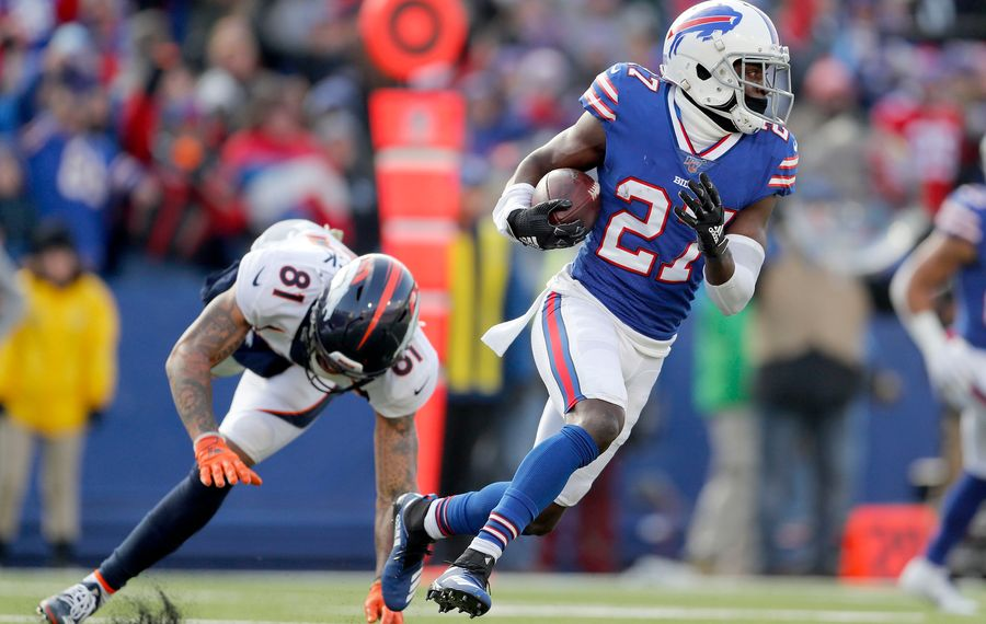 Bills cornerback Tre'Davious White tied for the NFL lead with six interceptions in 2019. (Mark Mulville/News file photo)