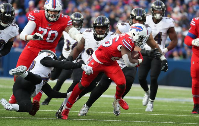 Rookie running back Devin Singletary and the Buffalo Bills have bounced back after each of their previous three losses this season. (James P. McCoy/Buffalo News)