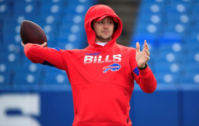Bills quarterback Josh Allen is working on improving his deep ball this offseason. (Harry Scull Jr./Buffalo News)