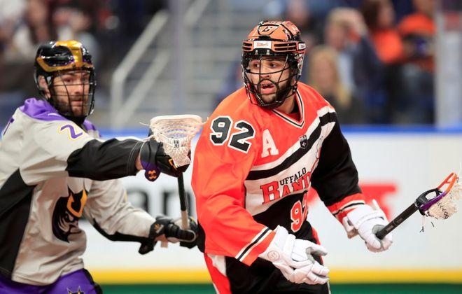Dhane Smith was one of three Bandits players with a hat trick against San Diego Saturday night. (Harry Scull Jr./Buffalo News)