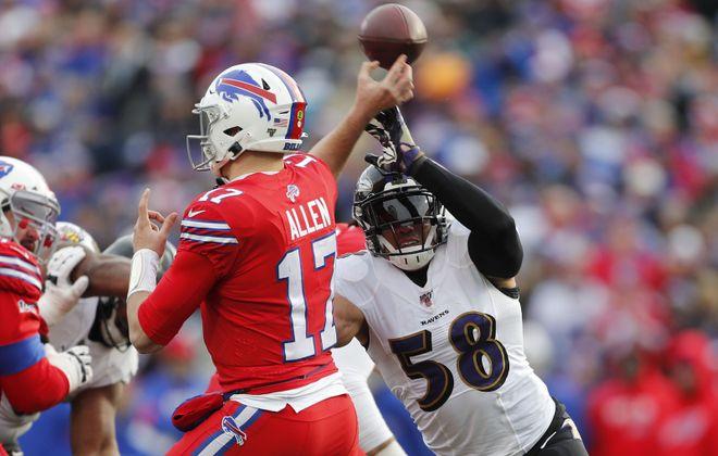 Bills quarterback Josh Allen. (Mark Mulville/Buffalo News)