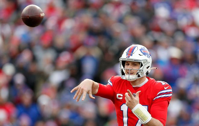 Bills quarterback Josh Allen. (Mark Mulville/Buffalo News)