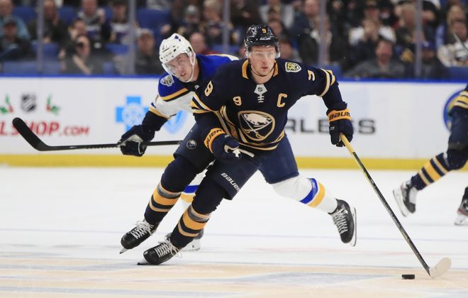 Jack Eichel scored in both games against the St. Louis Blues this season. (Harry Scull Jr./News file photo)
