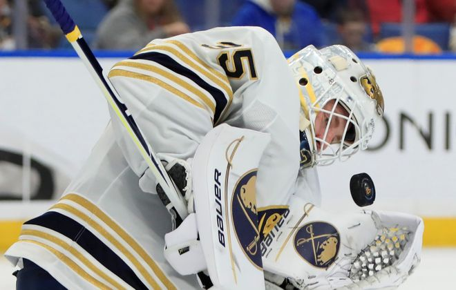 Linus Ullmark gave up a tough goal in the third period Sunday (Harry Scull Jr./News file photo).