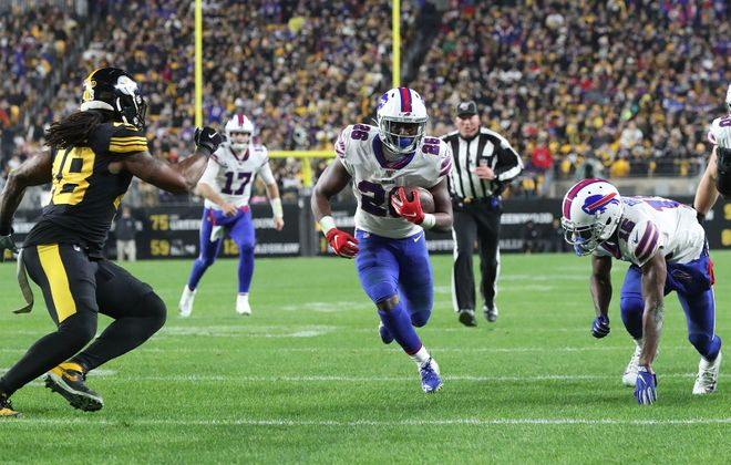 Devin Singletary was the only Bills offensive starter to miss a game due to injury in 2019. (James P. McCoy/Buffalo News)