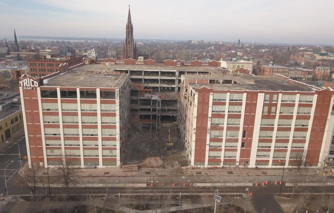 The environmental cleanup phase of a massive renovation project has been completed at the former Trico building in Buffalo.  (John Hickey/Buffalo News)