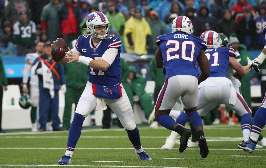 "Bills quarterback Josh Allen need to control his ""pregame jitters."" (James P. McCoy/News file photo)"