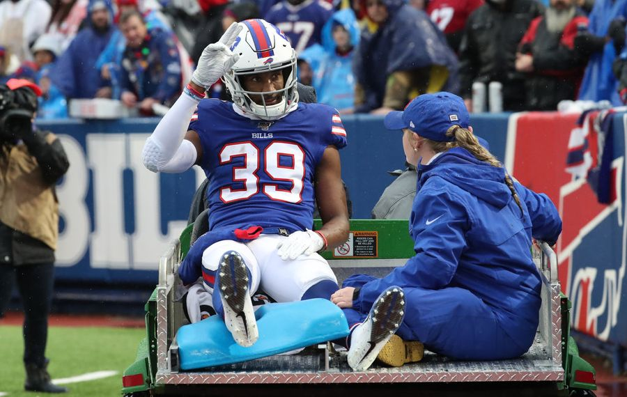 The ankle injury suffered last week by Bills cornerback Levi Wallace will keep him out of Saturday's game against the Texans. (James P. McCoy/News file photo)
