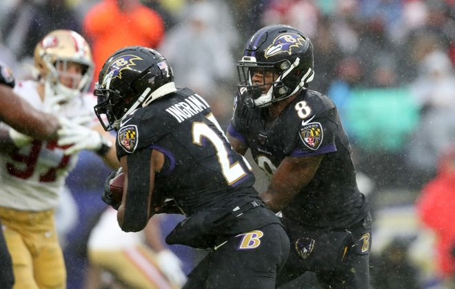 Lamar Jackson and the Baltimore Ravens were in the featured game over the weekend against the San Francisco 49ers on WUTV, but some Spectrum customers kept losing the picture on their TV screens. (Rob Carr/Getty Images)