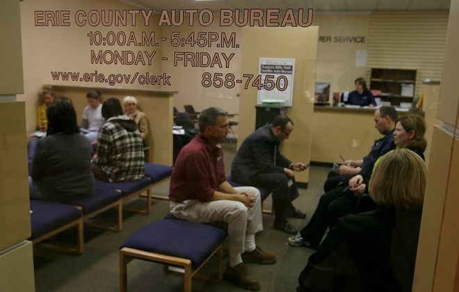 The Erie County Auto Bureau in the Eastern Hills Mall in Clarence. (Buffalo News file photo)