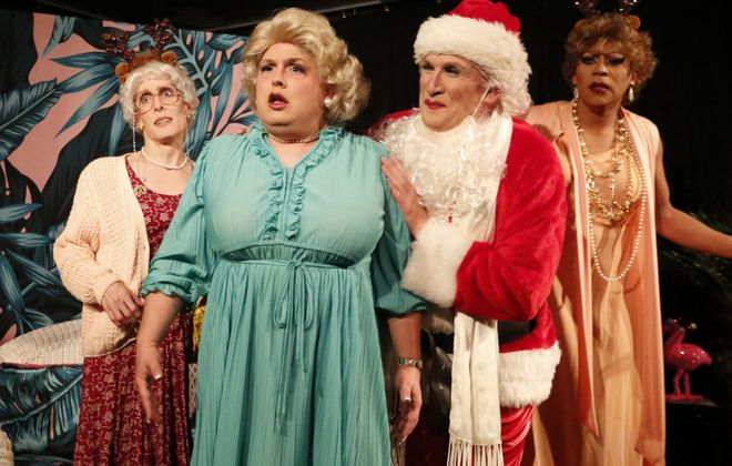 "Have a blast with Jessica Rasp, Joey Bucheker, Guy Tomassi and Mike Blasdell in ""Golden Girls: The Lost Episodes, Holiday Edition"" at Alleyway Cabaret. (Photo by Cheryl Gorski)"
