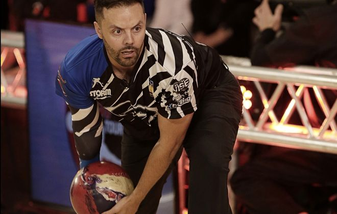 PBA bowler Jason Belmonte has been successful with his two-handed approach. (Bob Levey/Getty Images for PBA)