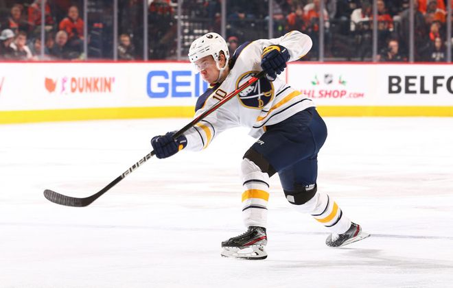 Buffalo Sabres defenseman Henri Jokiharju. (Getty Images)