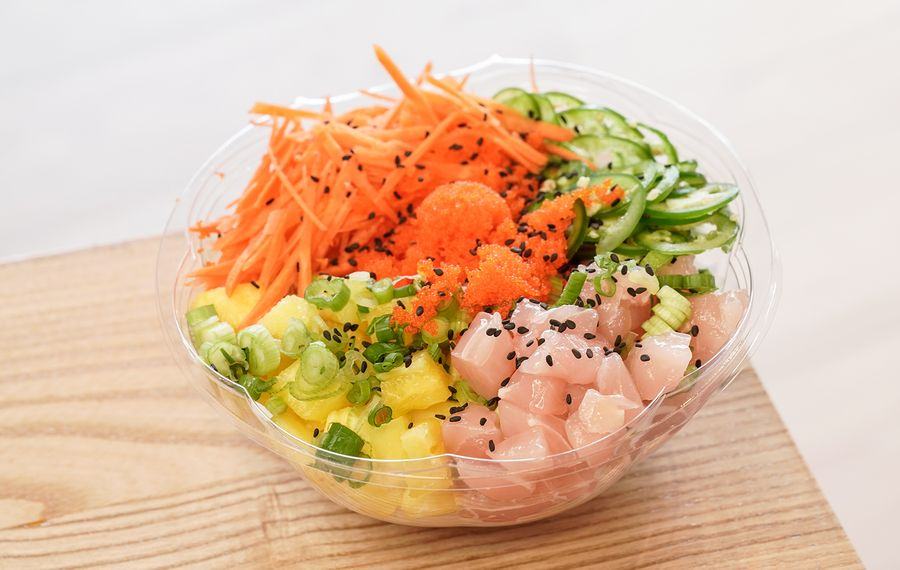 Fresh Catch Poke is a favorite spot for healthy to-go meals. (Dave Jarosz)