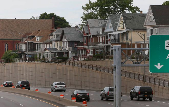 The Kensington Expressway carves through what used to be Frederick Law Olmsted's Humbolt Parkway. (Derek Gee/News file photo)