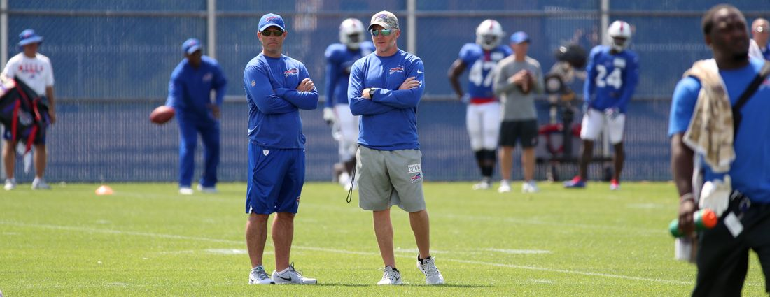 Head coach Sean McDermott and GM Brandon Beane have reshaped the Bills. (James P. McCoy/News file photo)