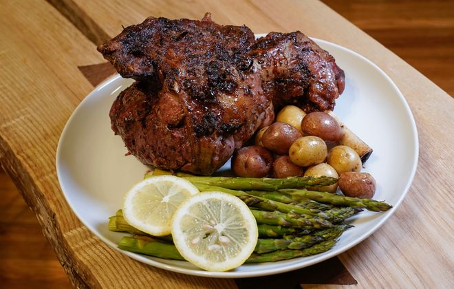 One of Karle's favorite dishes to please a crowd, this roasted lamb also makes for delicious next-day sandwiches. (Dave Jarosz)