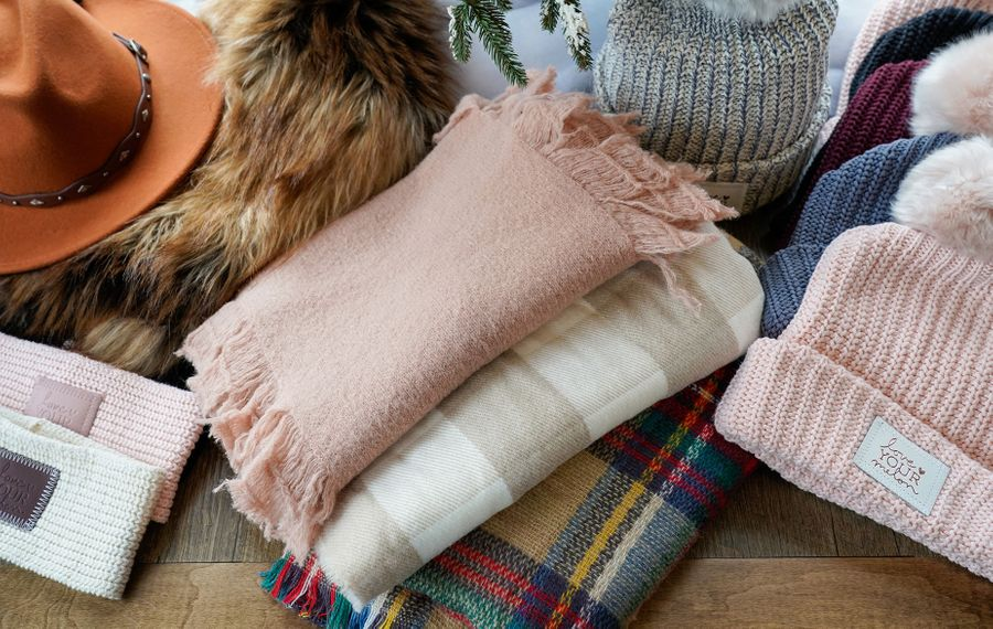 Beulah's General Store has cozy scarves, pom-pom hats and gifts for every season. (Dave Jarosz)