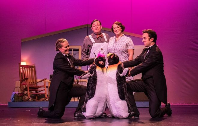 """""""Mr. Popper's Penguins"""" is another delightful family friendly production by the Theatre of Youth. (Photo courtesy of Christy Francis)"""