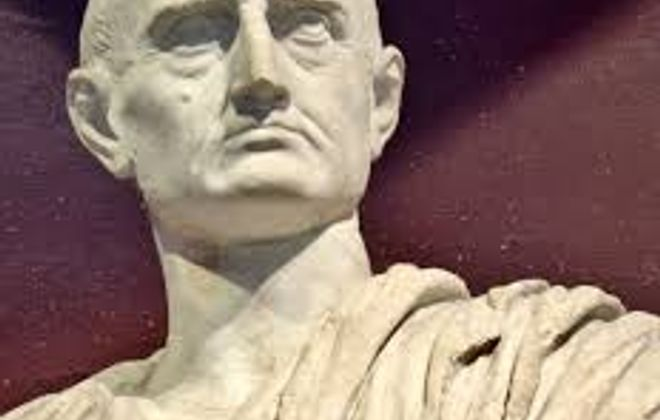 Bust of Cicero in the Ashmolean Museum, Oxford, England (Photo by Les Haines).