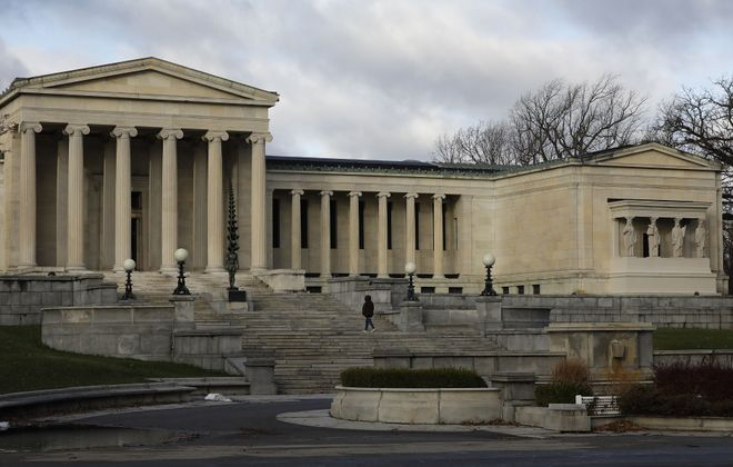 In November, the Albright-Knox broke ground on a two-year expansion project. (Derek Gee/Buffalo News)