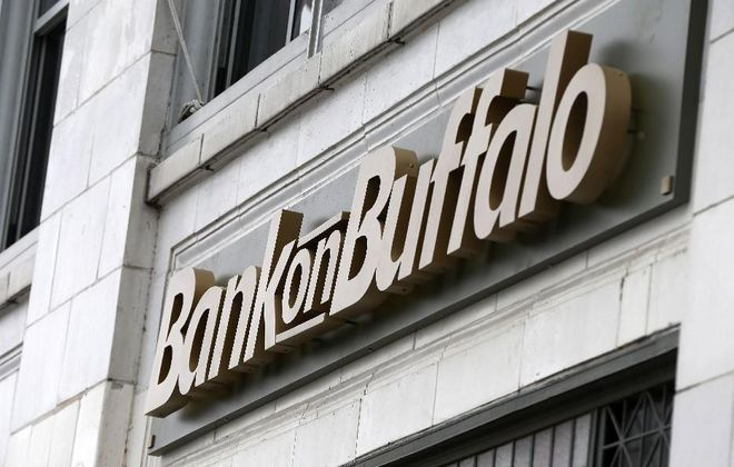 Bank on Buffalo's Electric Tower branch has a new look. (News file photo)