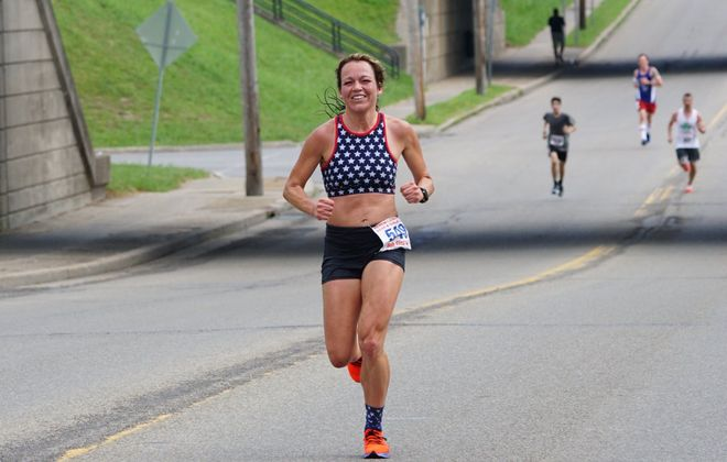 Brooke Adams is the women's winner of the Buffalo News Runner of the Year Series (Diane Sardes)