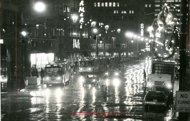 A downtown Buffalo Christmas, 1977. (Buffalo News file photo)