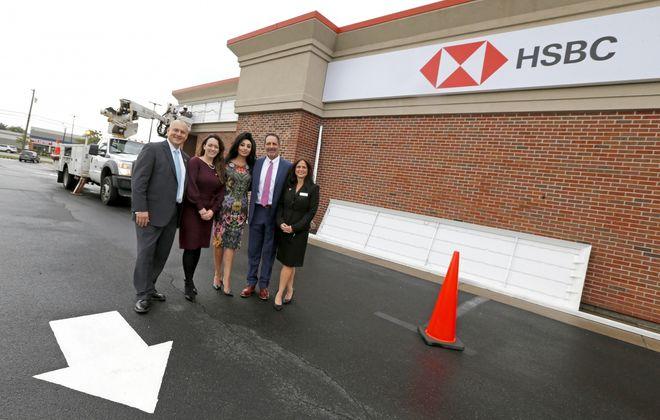 HSBC Bank USA officials last September welcomed the return of a branch to the Buffalo Niagara region, in Depew. (Robert Kirkham/News file photo)