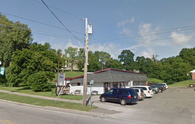 The Mayville Diner was destroyed by fire on Dec. 9. (Google Maps image)