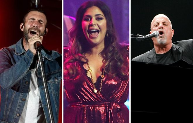 The summer 2020 concert season is filling up with shows by Maroon 5, left, Lady Antebellum and Billy Joel.  (Billy Joel by Sharon Cantillon/News file photo; other photos by Getty Images)