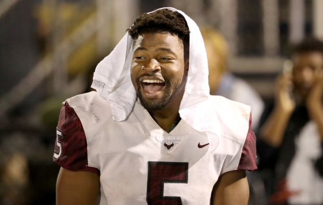 Running back Kolbe Burrell of St. Joseph's Prep in Philadelphia is expected to sign with the University at Buffalo football team. (Charles Fox/Philadelphia Inquirer)