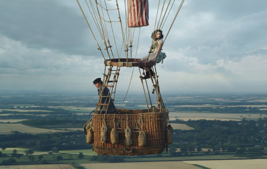 "Eddie Redmayne and Felicity Jones have a high-flying adventure in ""The Aeronauts."" (Courtesy of Amazon Studios)"