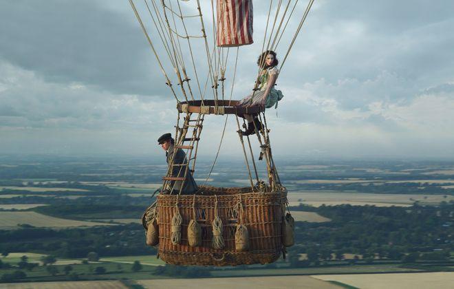"Eddie Redmayne and Felicity Jones have a high-flying adventure in ""The Aeronauts."" (Courtesy of Amazon Studios)"