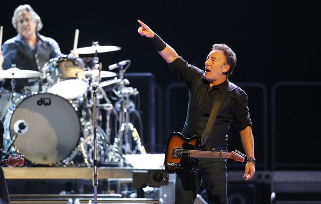 Bruce Springsteen performs at First Niagara Center Friday, April 13, 2012. (Harry Scull Jr./Buffalo News)