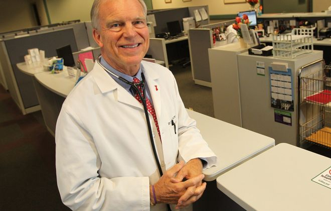 """Sharon Cantillon/Buffalo News  """"With health care costs spiraling out of control, we need to do something to pull in the reins."""" - Dr. Robert Gatewood, of Buffalo Cardiology and Pulmonary Associates in Williamsville"""